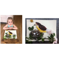 Collage picture made out of items from the garden!