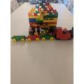 A Lego trainstation