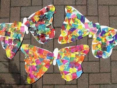 Collage butterflies (14)