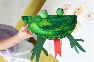 Plate frog craft
