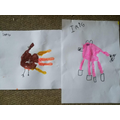 Farm handprint animals!