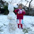 Making snowman friends