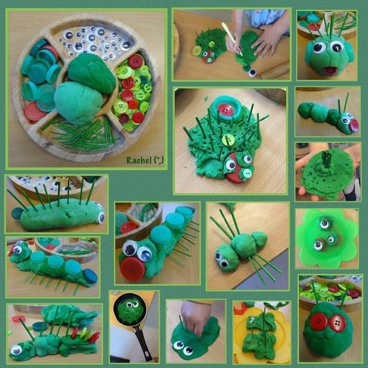 Playdough caterpillar (8)