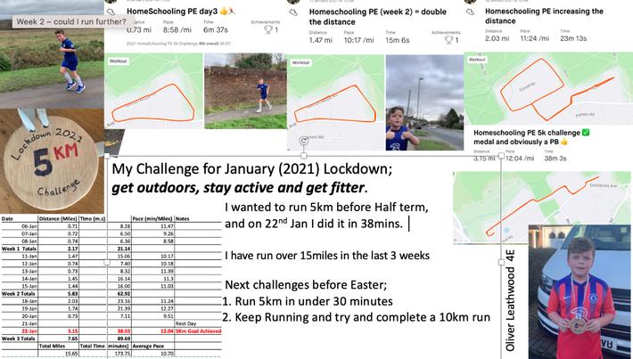 Oliver L 4E 5K Challenge!