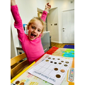 Using coins for our tens frame