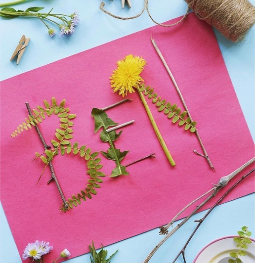 Write your name with leaves and flowers (11)