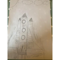 Charlie has created his own space ship!