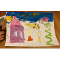 Jack and the Beanstalk painting!