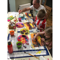 Family painting class!