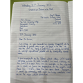 Amy's (5P) brilliant letter of complaint