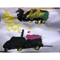 Combine harvester paintings!