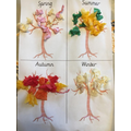 Seasons sheet with tissue paper!