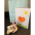 Making cards and treats for family