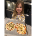 Making homemade pizzas