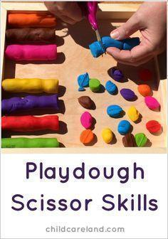 Option 1 - cutting playdough