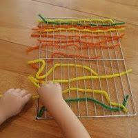 Option 4 - threading with ribbon, string or pipe cleaners
