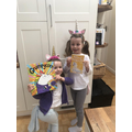 Dressing up as unicorns!
