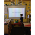 We are presenting them to the class.