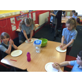 We followed instructions to make moon dough!