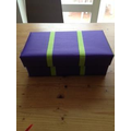 decorated shoe box