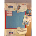 Our American Geography display