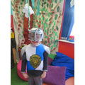 A knight in shining armour