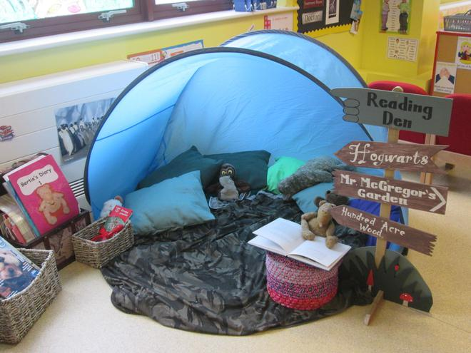 Our Cosy Reading Den.