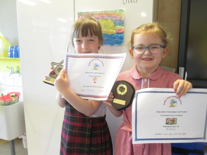 Congratulations Polina, Ana and Gabriella. (Sorry you couldn't get yours today Gabby :-(