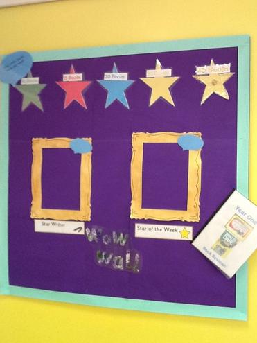 We have a Wow Wall to show off our fabulous work.