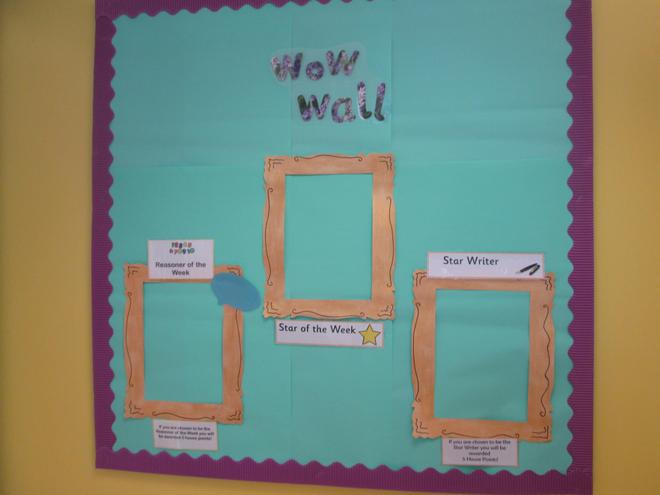 We have a Wow Wall to show fabulous work too!