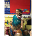 Macie dressed in traditional clothes by Mr.Gohil.