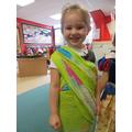 Looking great in your colourful sari Isla.