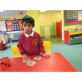 Muhammed worked hard with his counting.