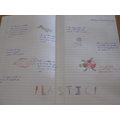 A piece of Year 6 work about plastic pollution.