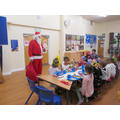 We were then very surprised to have a quick visit from Father Christmas!