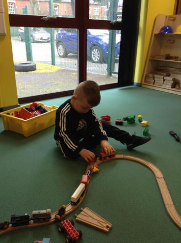 Playing with the trains