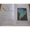 A piece of Year 6 work about the Amazon Basin in South America.