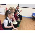 African drumming.