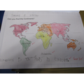 In Year 1 we have learnt there are 7 Continents.