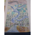Ivona in Year 6 completed a lovely piece of work about The River Severn.