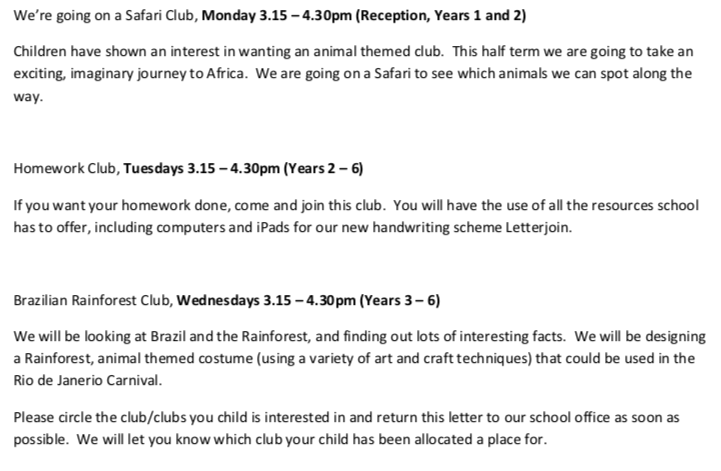 Mrs Bath's Clubs
