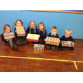P1 pupils with some of our Shoe Boxes