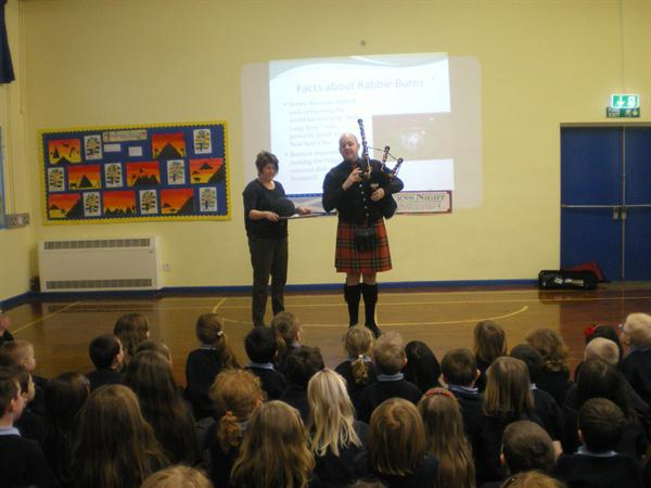 Mrs Humphrey with the haggis!