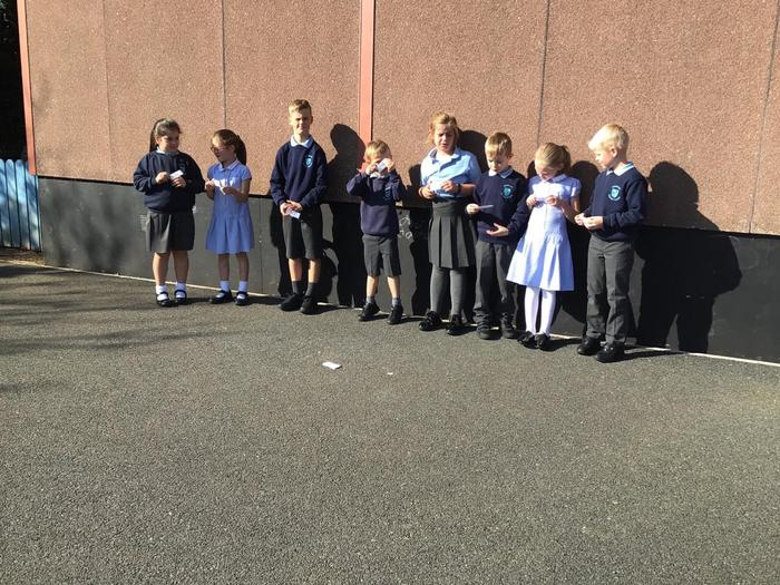 Making a human number line!