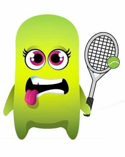 Class Dojo monster playing tennis