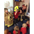 A visit from a Fireman