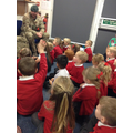 Remembrance Day soldier visit