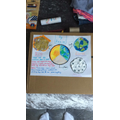 Kezia's sun and earth work.
