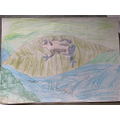 A poison dart frog drawn by Harry A