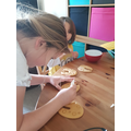 Decorating biscuits
